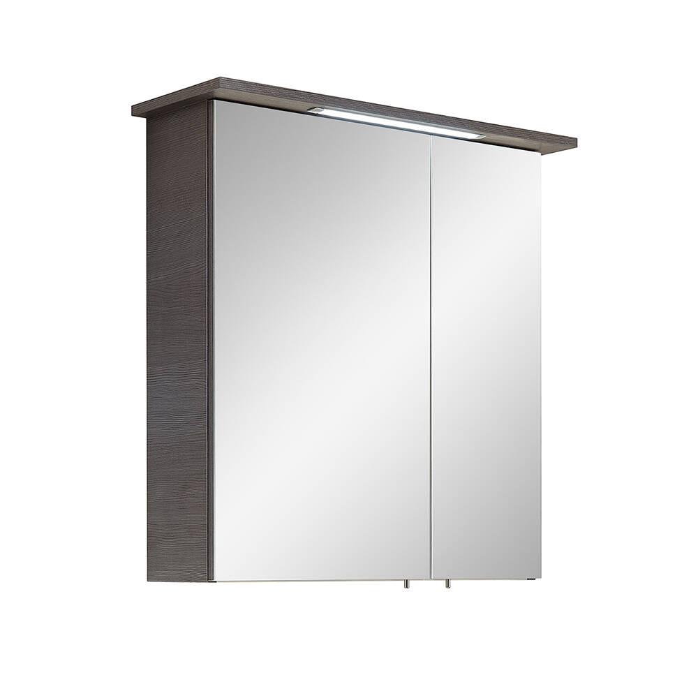 Badezimmer Spiegelschrank ALINA-66 in Graphit Struktur quer Nachb. - B/H/T: 60/72/20cm