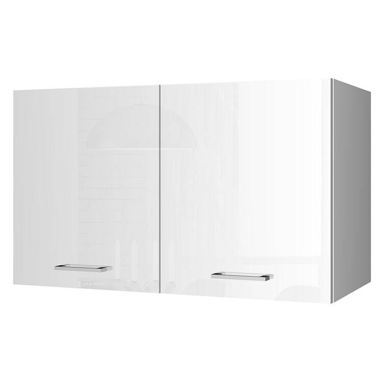 Küchen-Hängeschrank 10 MARANELLO-10 Weiß Hochglanz Breite 10 cm