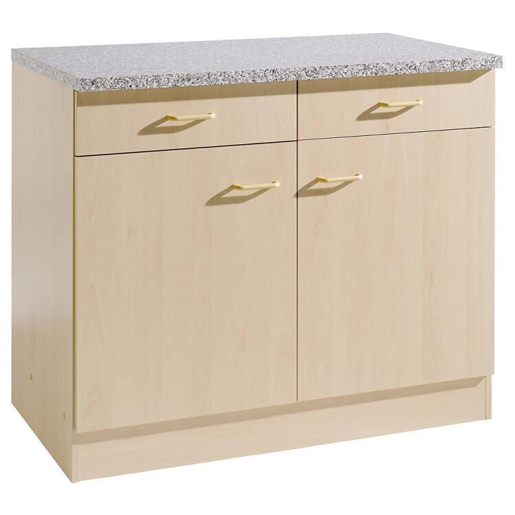 Küchen-Unterschrank 2-türig SALERNO-03 Buche Dekor Breite 100 cm