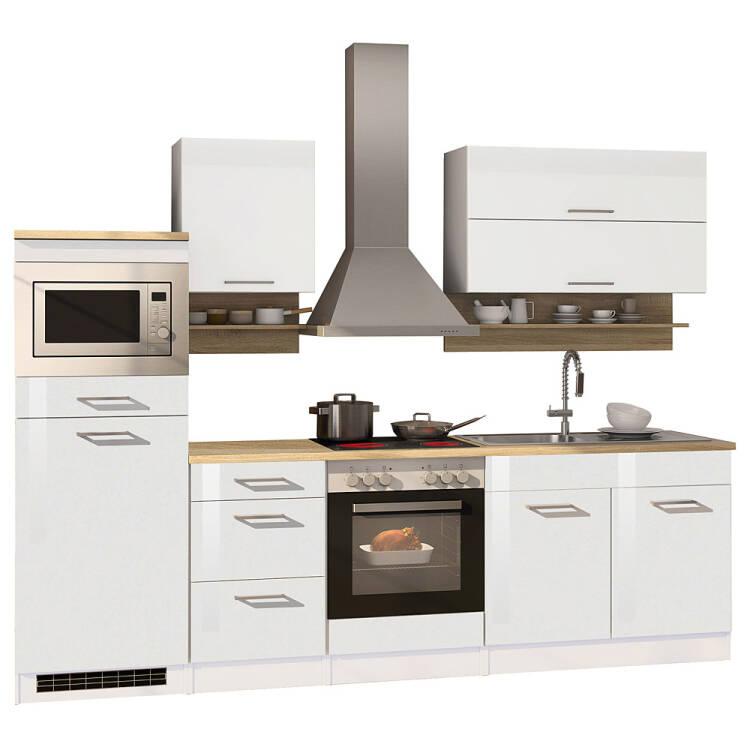 Küchen Unterschrank 100 MARANELLO 03 Weiß Hochglanz Breite 100 cm