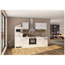 Kitchen unit 270 cm white, incl. electric appliances...