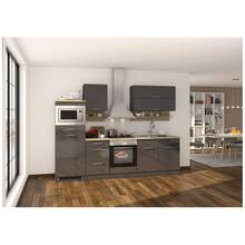 Kitchen unit 270 cm grey, incl. electric appliances...