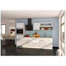 Kitchen unit 290 cm white high gloss, incl. electric...