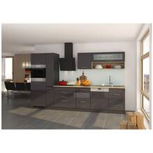 Kitchen unit high gloss grey 330 cm MARANELLO-03 incl....