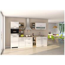 Kitchen unit 300 cm white MARANELLO-03 incl. electrical...