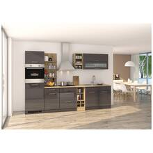Kitchen unit 300 cm grey MARANELLO-03 incl. electrical...