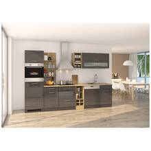 Kitchenette grey glossy 310 cm MARANELLO-03 incl....