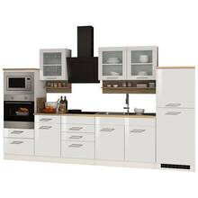 Kitchen unit 330 cm white MARANELLO-03 incl. electrical...