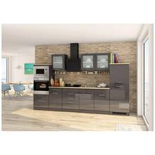 Kitchen unit 330 cm grey MARANELLO-03 incl. electrical...