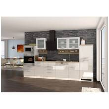 Kitchen including electrical appliances, 340 cm white...
