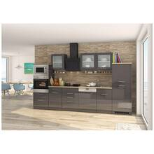 Kitchen including electrical appliances, 340 cm grey...