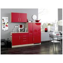 Single kitchen in red high gloss width 190 cm TERAMO-03...