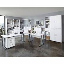 Office furniture set COLUMBUS-10 Brilliant white matt
