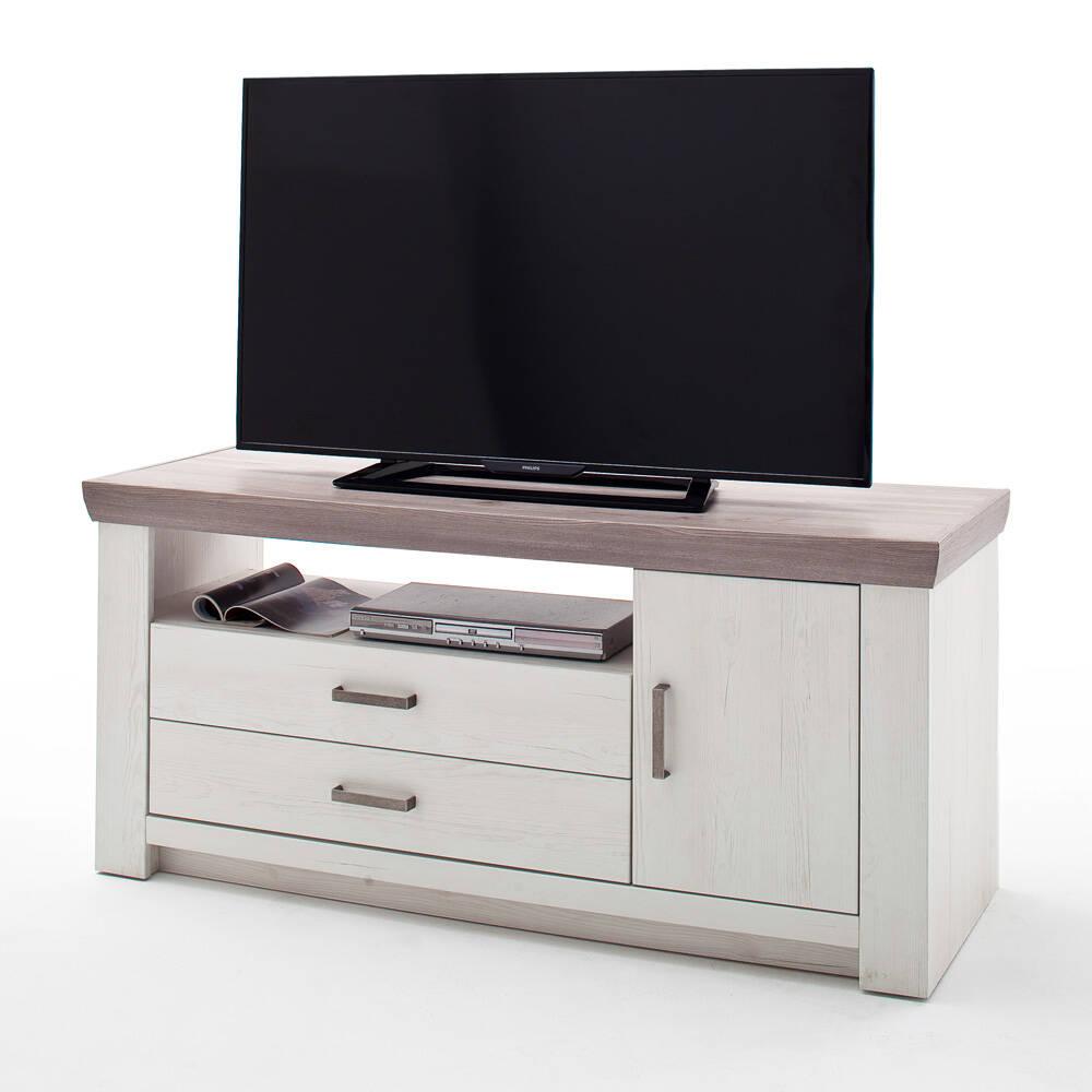TV-Lowboard BENIN-05 Wohnzimmer Fernsehtsich in Pinie Aurelio & Eiche Nelson Nb., Tiefziehfront - B/H/T: 144/67/55cm