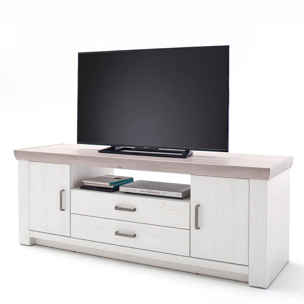 TV-Lowboard BENIN-05 Fernsehschrank in Pinie Aurelio & Eiche Nelson Nb., Tiefziehfront - B/H/T: 180/66/56cm