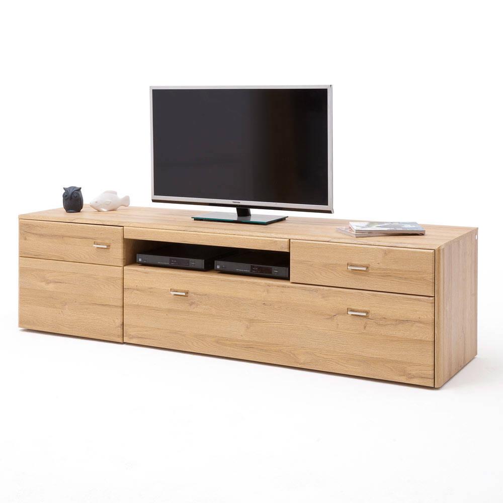TV-Lowboard FERROL-05 Wohnwand Fernseh Schrank in Grandson Oak Nb. - B/H/T: 205/55/52cm