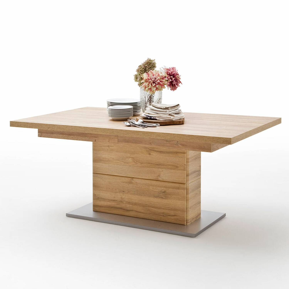 - Dining Room Table FERROL-05 In Grandson Oak Nb., Extendable To 280cm -