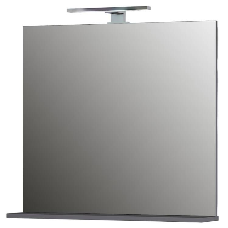 Badezimmer Waschplatz Macul 01 In Hochglanz Weiss Und Graphit Spiegel Mit Led Lampe Bxhxt Ca 155x200x34cm