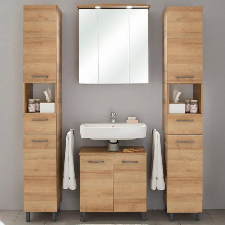 Badezimmer Möbel Serie RECIFE-66 in Riviera Eiche quer Nb. selbst zusa