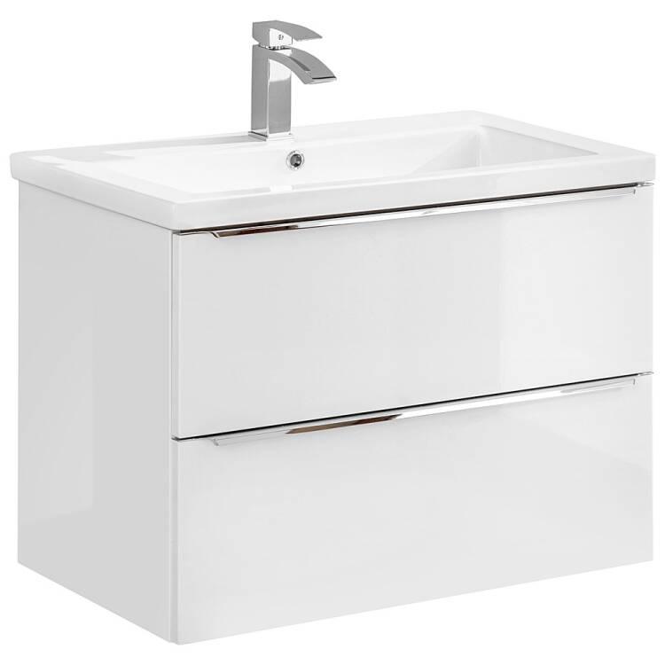 Waschtischunterschrank 80cm Toskana 56 In Weiss Hochglanz B H T Ca 80