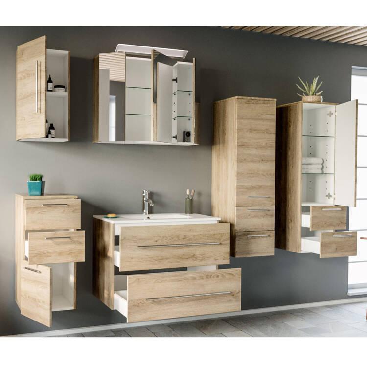 badezimmer serie abuja02 in eiche hell  selbst
