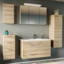 Bathroom series ABUJA-02 in oak light - assemble by yourself