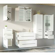 Bathroom series ABUJA-02 in white high gloss - put...
