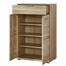 Solid wardrobe set AACHEN-36 Wild oak bianco oiled with...