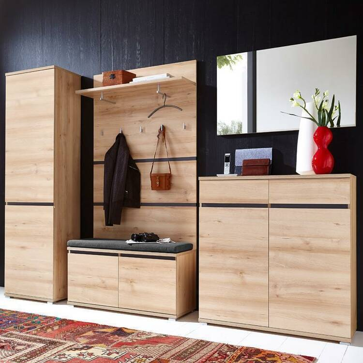 schuhbank lissoba 01 edelbuche inkl polster b x h. Black Bedroom Furniture Sets. Home Design Ideas