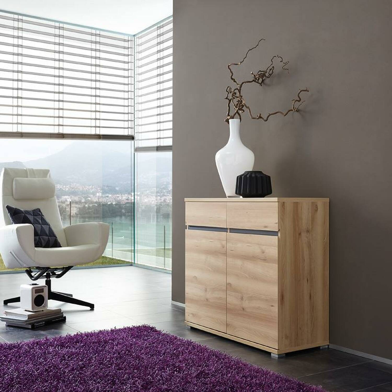 kommode lissoba 01 edelbuche nachbildung b x h x t. Black Bedroom Furniture Sets. Home Design Ideas