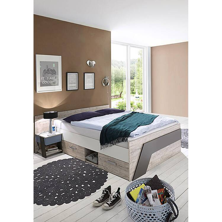 Jugendbett Set Mit Bett 140x200 Cm Und Nachttisch Leeds 10 In Sandeich