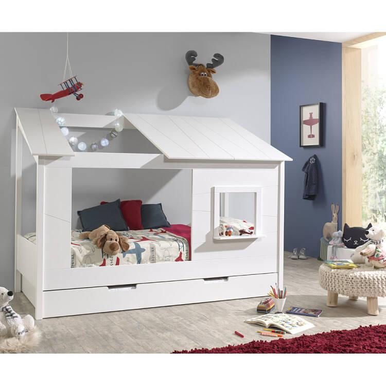 Baumhaus Kinderbett ALEXANDRIA-12 Liegefläche 90 x 200 cm und Bettsch