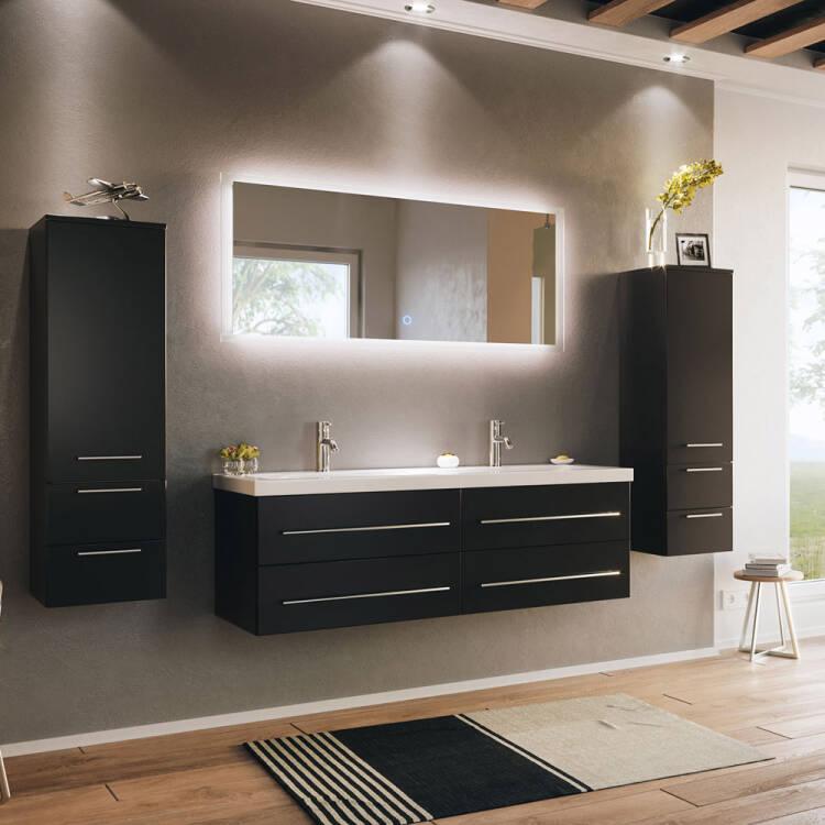 badezimmer set miramar02 schwarz seidenglanz inkl