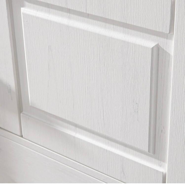 Wohnzimmer Sitzsack Chacos In Weiß Taupe: Landhaus Vitrine Sideboard Inkl. LED-Beleuchtung LEER-55