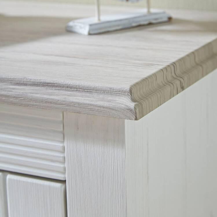 Wohnzimmer Sitzsack Chacos In Weiß Taupe: Landhaus-Wohnzimmer Wohnwand Inkl. LED-Beleuchtung LEER-55