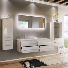 Bathroom series MIRAMAR-02 in white high gloss - put it...