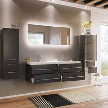Bathroom series MIRAMAR-02 in anthracite satin gloss -...