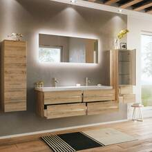 Bathroom series MIRAMAR-02 in light oak - put it together...