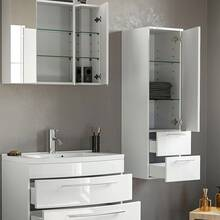 Bathroom furniture set in white high gloss with 100cm...