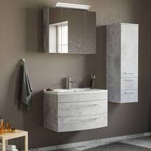 Bathroom furniture set MAPUTO-02 with LED mirror cabinet...