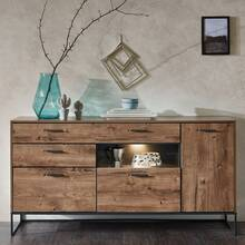 Industrial Design Sideboard in Haveleiche Cognac mit...