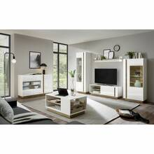 Wall unit combination with coffee table and display...