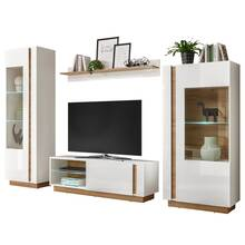 Wall unit set with coffee tables and sideboard CELLE high...