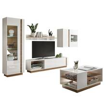 Storage wall with CELLE-61 coffee table in high-gloss...
