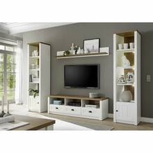 Wall unit in country house style PISA-61 in pine white...