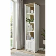 Country house shelf with door PISA-61 in pine white and...