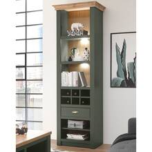 Landhaus shelf cabinet with wine bottle division...