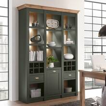 Landhaus Buffet shelf cabinet CINCINNATI-61 in green with...