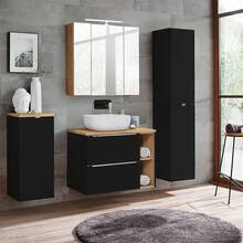 Bathroom furniture set with LED mirror cabinet...
