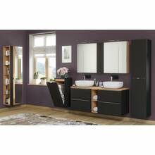 Bathroom series TOSKANA-BLACK-56 in satin matt...
